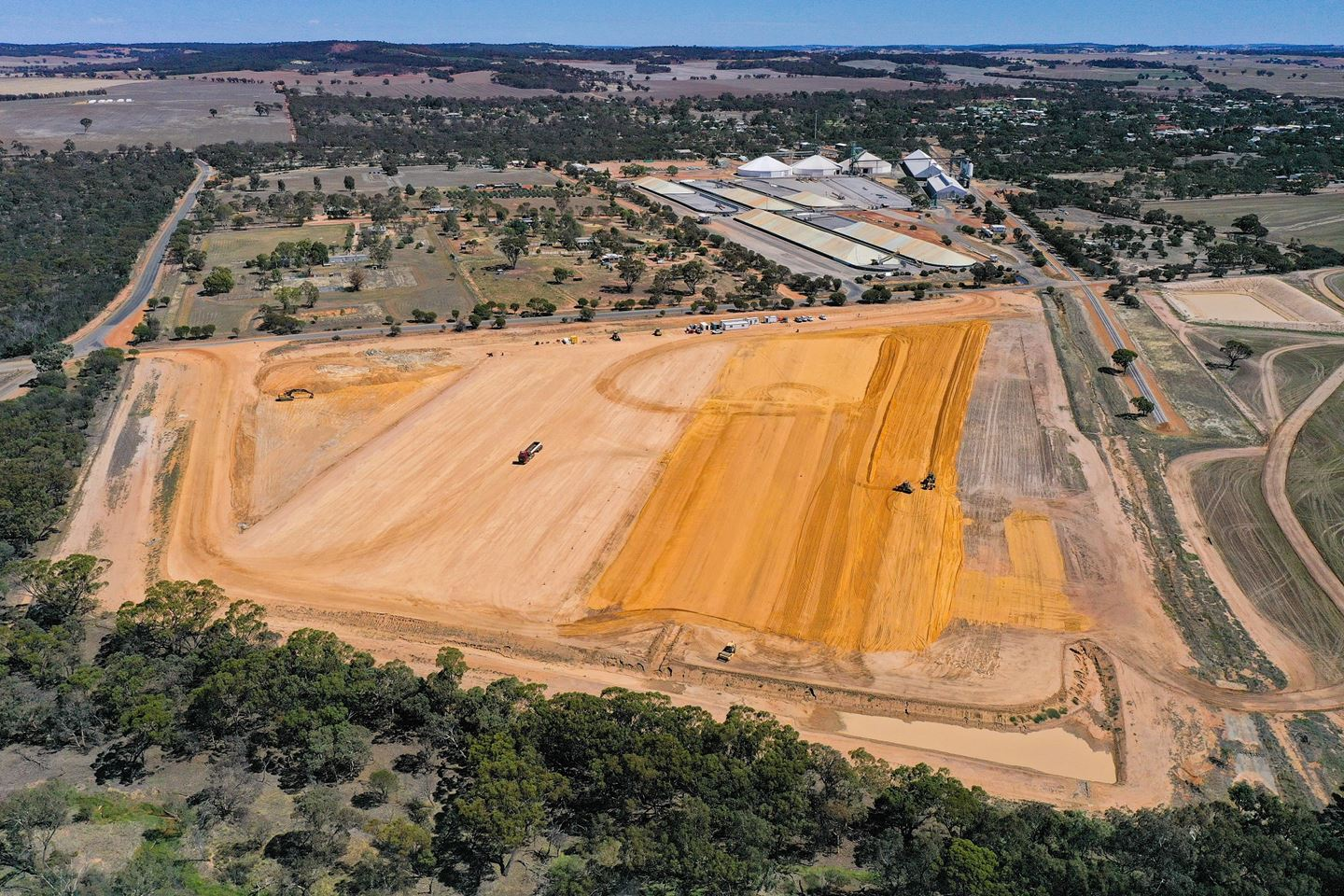 Earthworks at CBH Brookton site